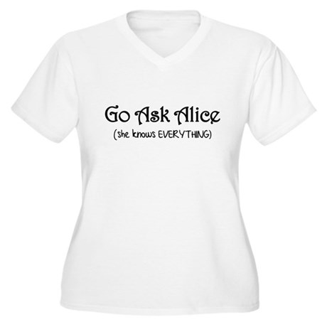 Go Ask Alice Twilight Women's Plus Size V-Neck T-S