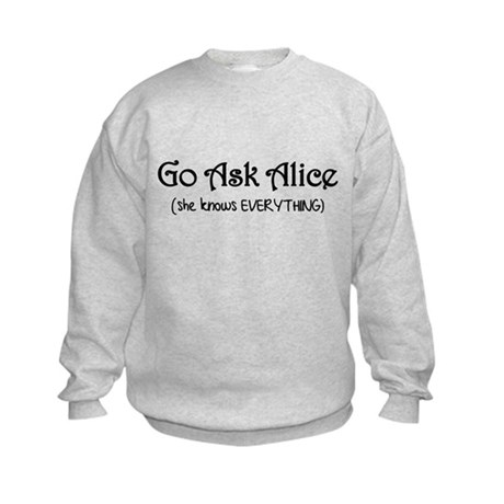 Go Ask Alice Twilight Kids Sweatshirt