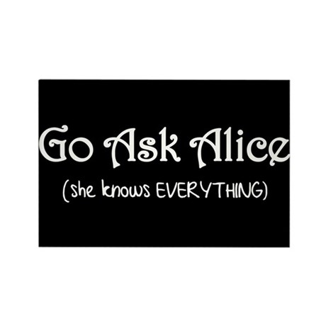 Go Ask Alice Twilight Rectangle Magnet (10 pack)