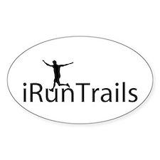 iRunTrails Oval Bumper Stickers
