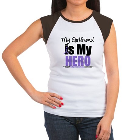My Girlfriend is My Hero (HL) Women's Cap Sleeve T