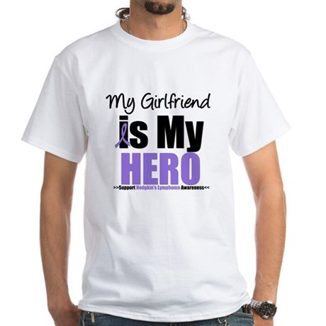 My Girlfriend is My Hero (HL) White T-Shirt
