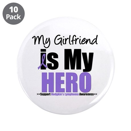 "My Girlfriend is My Hero (HL) 3.5"" Button (10 pack"