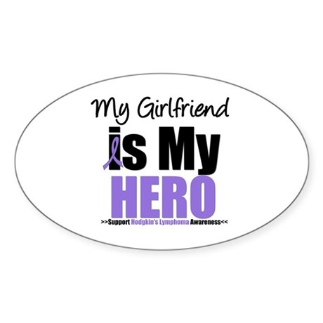 My Girlfriend is My Hero (HL) Oval Sticker (10 pk)