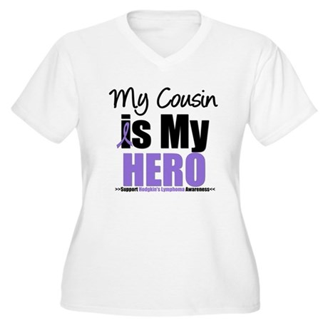 My Cousin is My Hero (HL) Women's Plus Size V-Neck