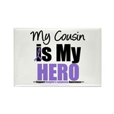 My Cousin is My Hero (HL) Rectangle Magnet