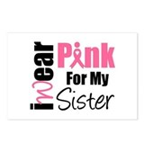 I Wear Pink (Sister) Postcards (Package of 8)