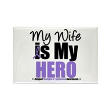 My Wife is My Hero (HL) Rectangle Magnet (10 pack)