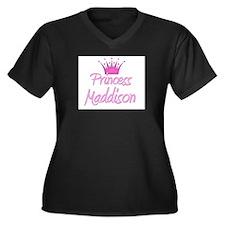 Princess Maddison Women's Plus Size V-Neck Dark T-