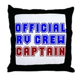 RV Captain Throw Pillow