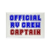 RV Captain Rectangle Magnet