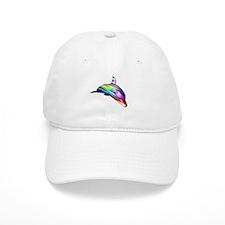 Rainbow Dolphin Baseball Cap