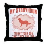 Stabyhoun Throw Pillow