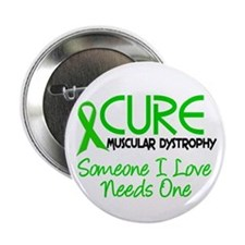 "CURE Muscular Dystrophy 2 2.25"" Button (100 pack)"