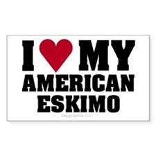 Love My American Eskimo Sticker (Rect)