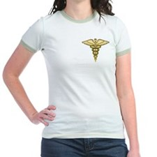 Gold Caduceus T