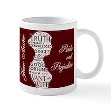 Jane Austen Quote Small Mug