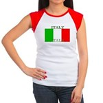 Italy Italian Flag Women's Cap Sleeve T-Shirt