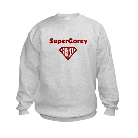 Super Hero Corey Kids Sweatshirt