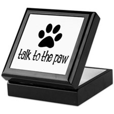 Talk to the Paw Keepsake Box