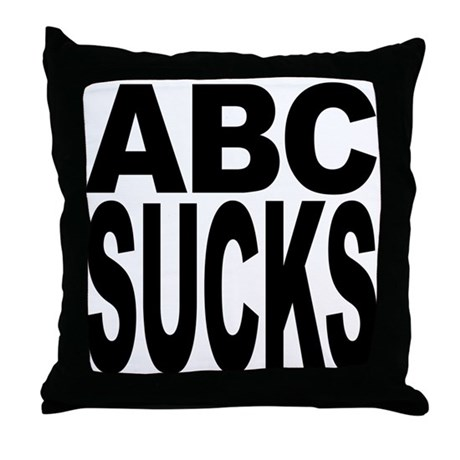 ABC Sucks Throw Pillow