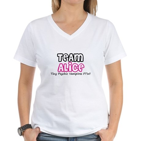 Team Alice Twilight Women's V-Neck T-Shirt