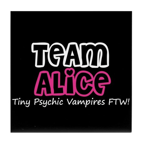 Team Alice Twilight Tile Coaster