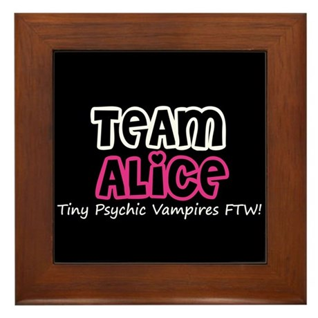 Team Alice Twilight Framed Tile