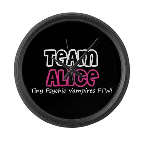 Team Alice Twilight Large Wall Clock