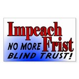 Impeach Bill Frist Rect. Decal
