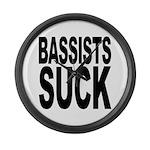 Bassists Suck Large Wall Clock
