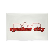 Speaker City Rectangle Magnet
