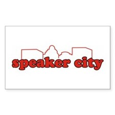 Speaker City Rectangle Decal