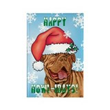 Holiday Dogue de Bordeaux Rectangle Magnet