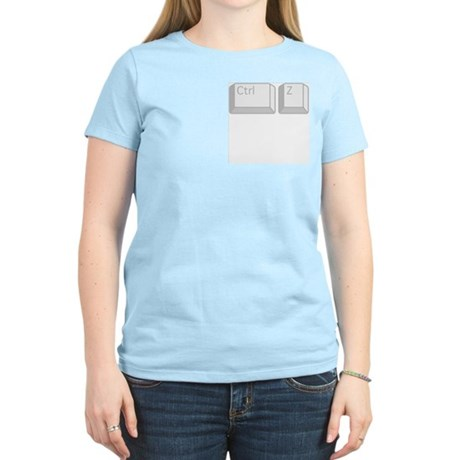 CONTROL Z UNDO Women's Light T-Shirt