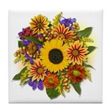 Autumn Bouquet Tile Coaster