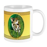 Cheetah Face in oval frame Coffee Mug