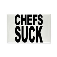 Chefs Suck Rectangle Magnet (100 pack)