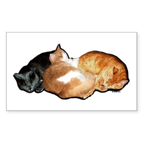 Sleeping Cats Rectangle Sticker