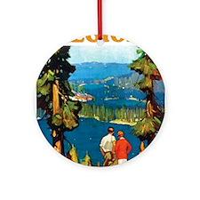 Lake Tahoe Keepsake (Round)