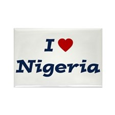 I HEART NIGERIA Rectangle Magnet