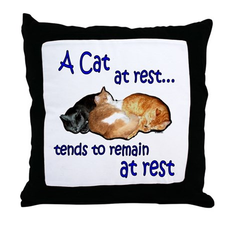 Laws of Physics Cats Throw Pillow