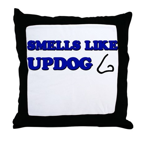 Smells Like Updog Throw Pillow