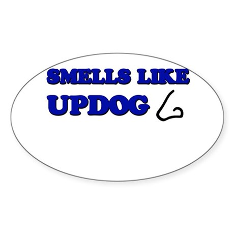 Smells Like Updog Oval Sticker