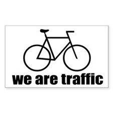 We Are Traffic Rectangle Decal