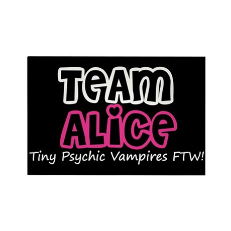 Team Alice Twilight Rectangle Magnet