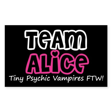 Team Alice Twilight Rectangle Sticker