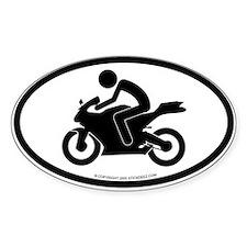 """Sport bike"" - Oval Decal"