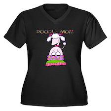 Poodle Mom Women's Plus Size V-Neck Dark T-Shirt