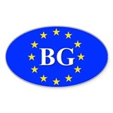 European Union Bulgaria Oval Decal